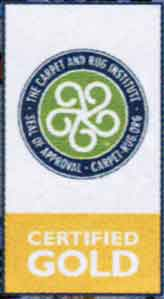 Picture of Carpet & Rug Institute Gold Certificate